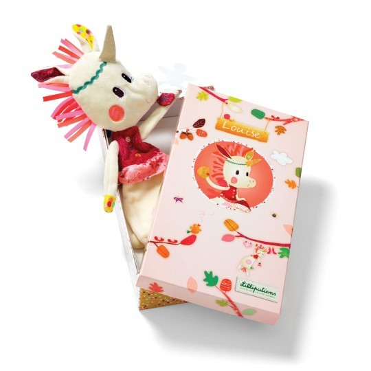 962d8e71971c6 Louise the Unicorn Cuddle in gift box from Lilliputiens - present ...